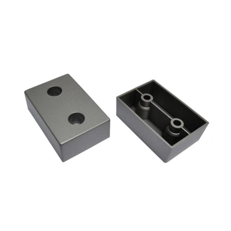 Stopka nóżka meblowa 60x40x20 kolor aluminium