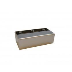 Stopka nóżka meblowa prostokątna 95x45x28 kolor aluminium