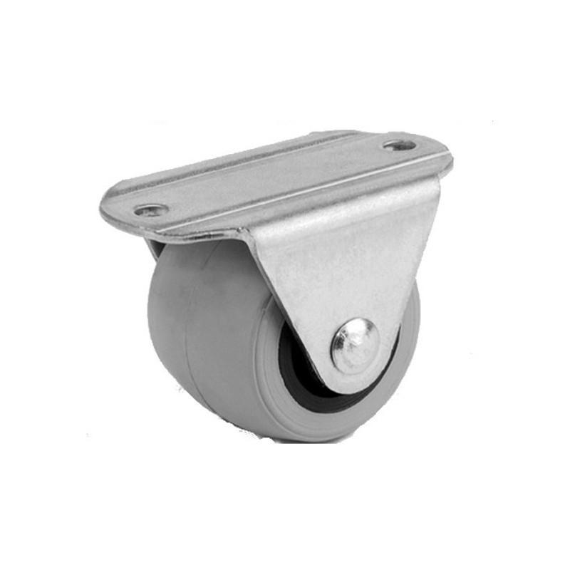 Rolka kółko skrętne łożyskowane guma fi30