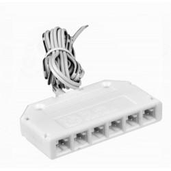 Rozdzielacz napięcia 6 punktowy do LED z przewodem