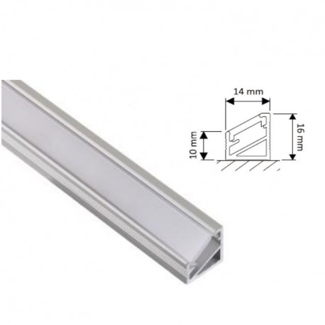 Profil led wpuszczany do taśm led TRI-LINE MINI 200cm