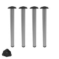 Noga meblowa regulowana fi60 820 aluminium 4 szt.