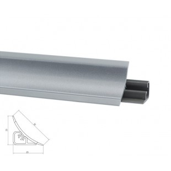 Listwa przyblatowa LB-23 aluminium-satyna