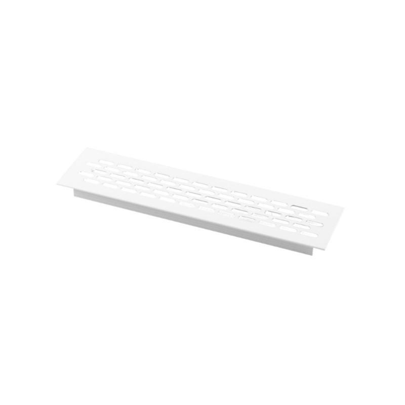 Kratka wentylacyjna 245x60mm lakierowana biała