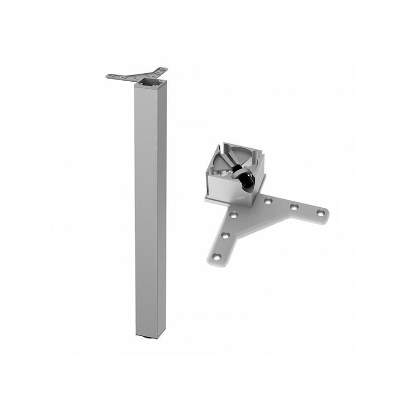 Noga kwadratowa 60x60 710mm aluminium