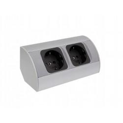 Corner Box 2 gniazda narożne aluminium
