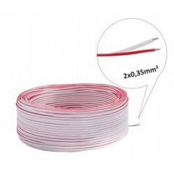 Przewód do LED 2 x 0,35 mm biało-czerwony