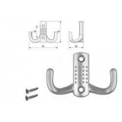 Wieszak meblowy WP04 aluminium